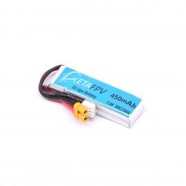 BetaFPV 450mAh 2S LiPo Batterie (XT30)
