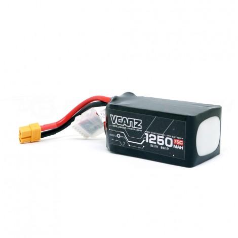 VCANZ 1250mAh 6s 75C LiPo Batterie (XT60)