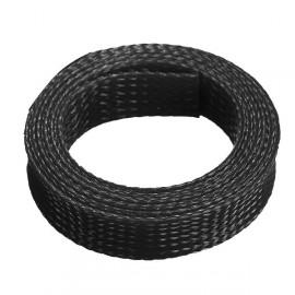 Ausdehnbarer geflochtener Kabelschlauch 1m x 12mm (schwarz)