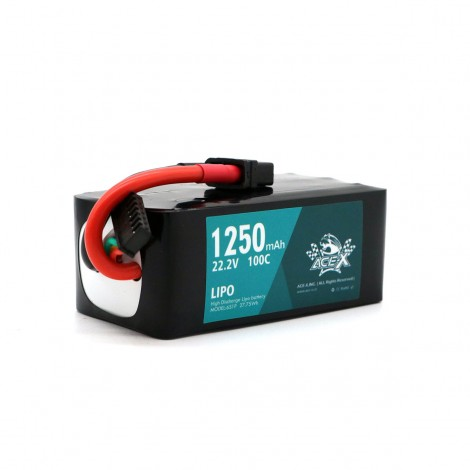 ACE-X 1250mAh 6S 100C LiPo (XT60)