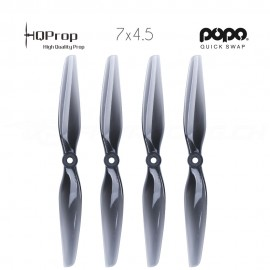 HQProp DP 7x4.5 Durable PC Propeller - Licht Grau - POPO