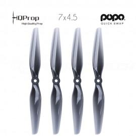 HQProp DP 7x4.5 Durable PC Propeller - Light Grey - POPO