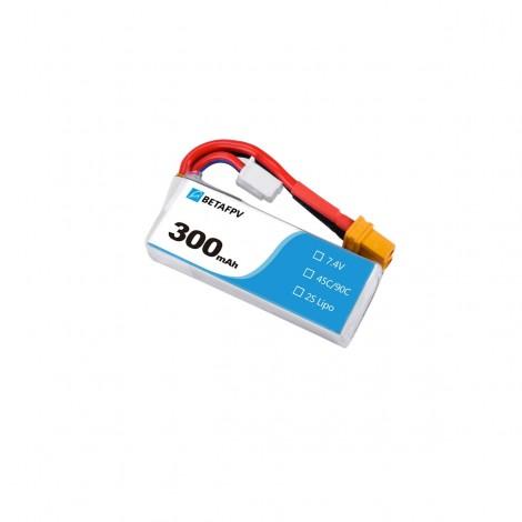 BetaFPV 300mAh 2S LiHV Batterie (XT30)