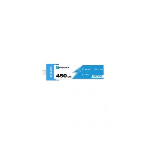 BetaFPV BT2.0 450mAh 1S LiPo Batterie