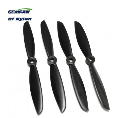 Gemfan 6045 Glasfaser/Nylon (2 CW + 2 CCW) Schwarz