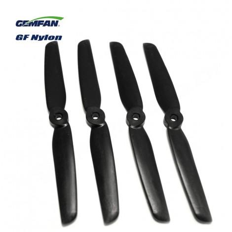 Gemfan 6030 Glasfaser/Nylon (2 CW + 2 CCW) Schwarz