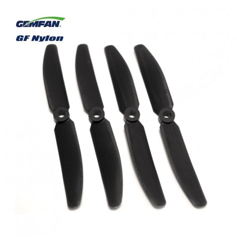 Gemfan 5040 Glasfaser/Nylon (2 CW + 2 CCW) Schwarz
