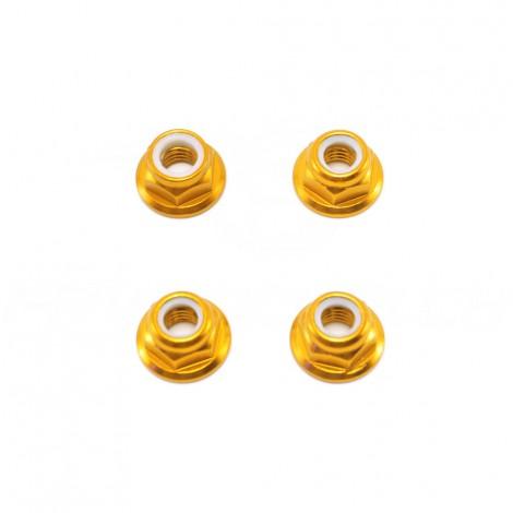 M5 Aluminium Lock Nut w/ Flange (4 pcs)
