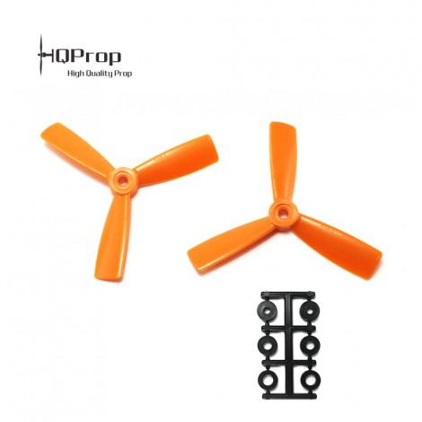 HQProp 4x4.5x3 Bullnose CCW Propeller - Orange GF verstärkt (Triblade)