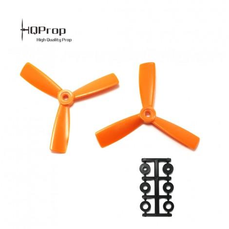 HQProp 4x4.5x3 Bullnose CW Propeller - Orange GF verstärkt (Triblade)