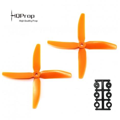 HQProp 5x4x4 CCW Propeller - Orange GF verstärkt (Quadblade)