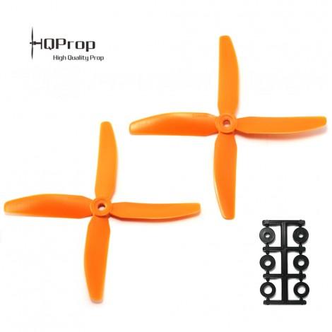 HQProp 5x4x4 CW Propeller - Orange GF verstärkt (Quadblade)
