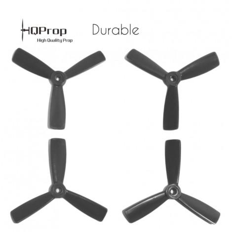 HQProp 4x4.5x3 Durable Propeller - Schwarz (Triblade)