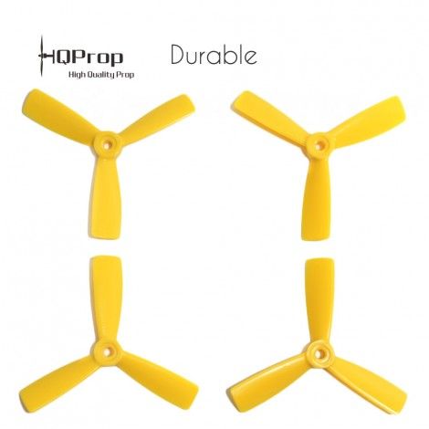 HQProp 4x4.5x3 Durable Propeller - Gelb (Triblade)