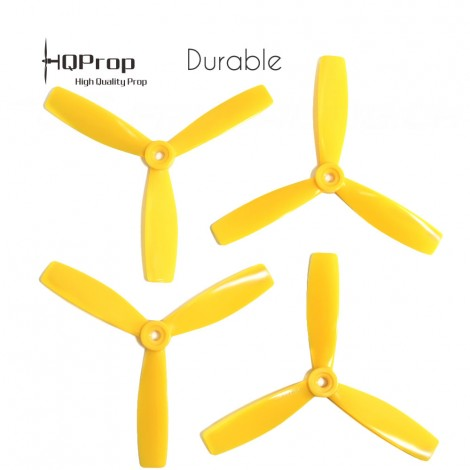 HQProp 5x4.6x3 Durable Propeller - Gelb (Triblade)