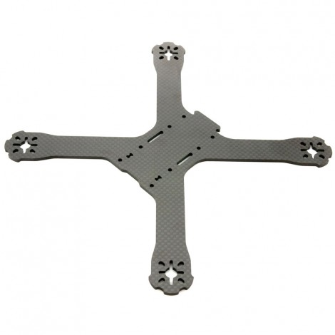"QAV-X Carbon Fiber Main ""Unibody"" Frame Plate (3mm)"