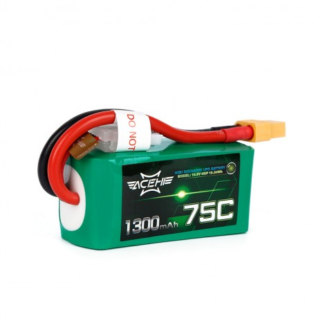 ACEHE 1300mAh 4S 75C LiPo (XT60)