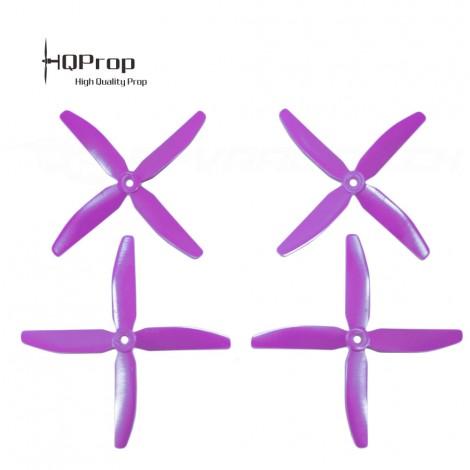 HQProp 5x4x4 CW+CCW Propeller - Purpur GF verstärkt