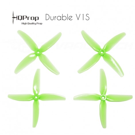 HQProp DP 5x4x4 Durable V1S PC Propeller - Licht Grün