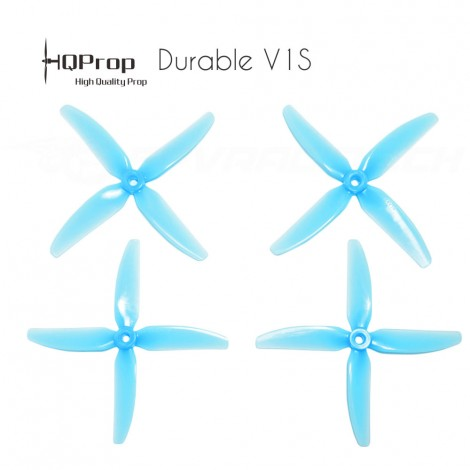 HQProp DP 5x4x4 Durable V1S PC Propeller - Licht Blau