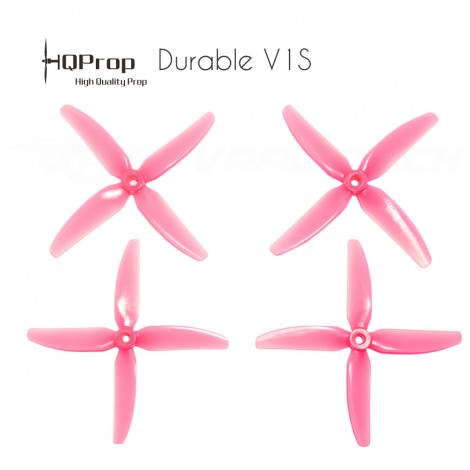 HQProp DP 5x4x4 Durable V1S PC Propeller - Licht Pink
