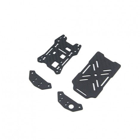 3B-R Top Plate, Battery Plate, VTX Plate Set
