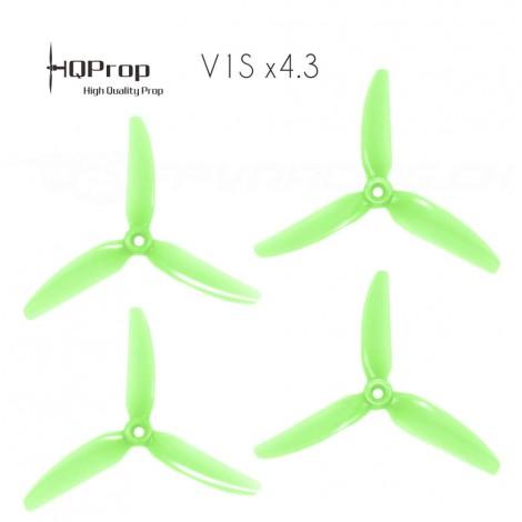 HQProp DP 5x4.3x3 Durable V1S PC Propeller - Licht Grün (Triblade)