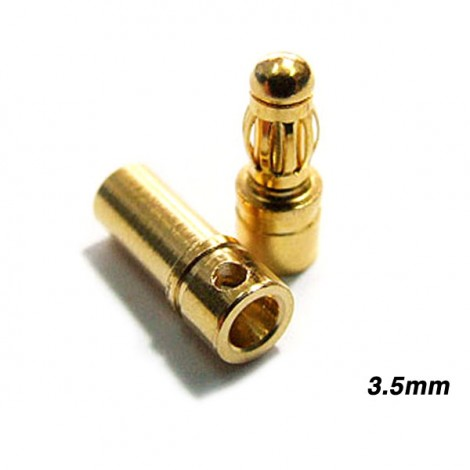3.5mm Gold Stecker 10 Paar (20 Stk.)