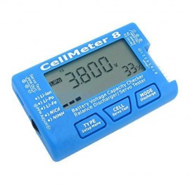 CellMeter 8 Multifunctional Digital Battery Capacity Servo Checker 2S-8S