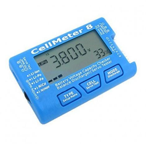 CellMeter 8 Multifunctional Digital Battery Capacity Servo Checker 2S-8S