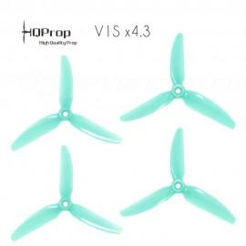 HQProp DP 5x4.3x3 Durable V1S PC Propeller - Licht Türkis (Triblade)