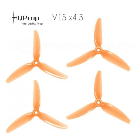 HQProp DP 5x4.3x3 Durable V1S PC Propeller - Licht Orange (Triblade)