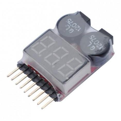 LiPo Monitor + Alarm 1-8S