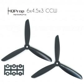 HQProp 6x4.5x3 CCW Propeller - Schwarz GF verstärkt (Triblade)