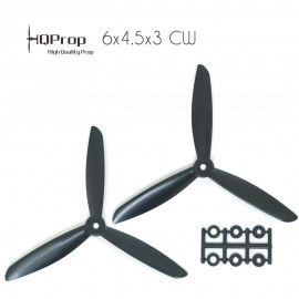 HQProp 6x4.5x3 CW Propeller - Schwarz GF verstärkt (Triblade)