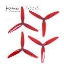 HQProp DP 7x3.5x3 V1S Durable PC Propeller - Light Red