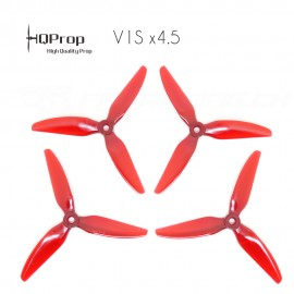 HQProp DP 5x4.5x3 Durable V1S PC Propeller - Light Red (Triblade)