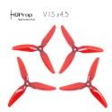 HQProp DP 5x4.5x3 Durable V1S PC Propeller - Light Red (Triblade)