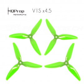 HQProp DP 5x4.5x3 Durable V1S PC Propeller - Licht Grün (Triblade)