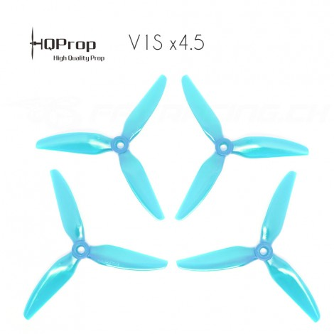 HQProp DP 5x4.5x3 Durable V1S PC Propeller - Licht Blau (Triblade)