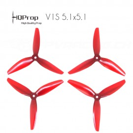 HQProp DP 5.1x5.1x3 Durable PC Propeller - Licht Rot