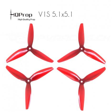 HQProp DP 5.1x5.1x3 Durable PC Propeller - Light Red