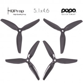 HQProp DP 5.1x4.6x3 Durable PC Propeller - Black - POPO