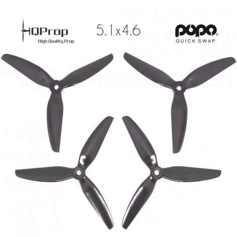 HQProp DP 5.1x4.6x3 Durable PC Propeller - Schwarz - POPO