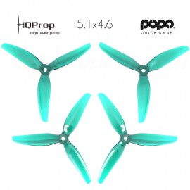 HQProp DP 5.1x4.6x3 Durable PC Propeller - Licht Blaugrün - POPO