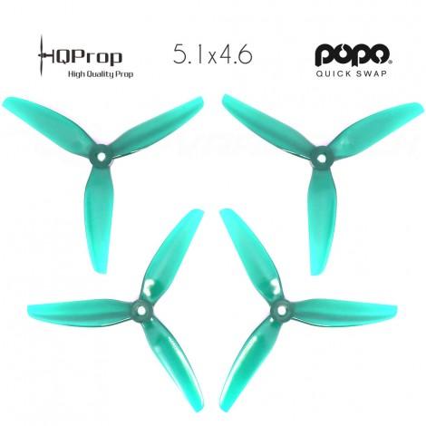 HQProp DP 5.1x4.6x3 Durable PC Propeller - Light Teal - POPO