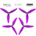 HQProp DP 5.1x4.6x3 Durable PC Propeller - Light Purple - POPO