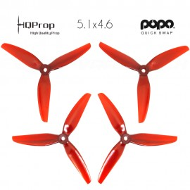 HQProp DP 5.1x4.6x3 Durable PC Propeller - Light Red - POPO