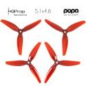HQProp DP 5.1x4.6x3 Durable PC Propeller - Licht Rot - POPO