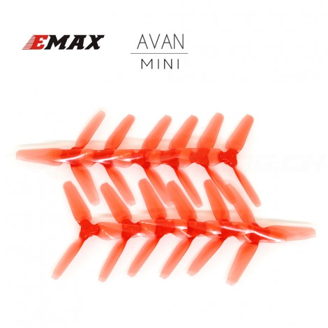 "AVAN MINI 3"" Prop 6 CW + 6 CCW - Clear Red"